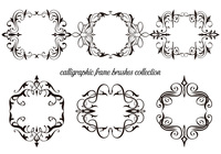 Calligraphic Frame Brushes Collection
