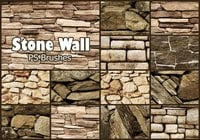 20 Stone Wall PS Brushes abr. Vol.6