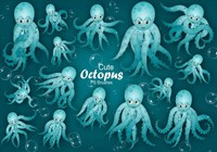 20 brosses Cute Octopus PS abr.Vol.12