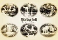 20 Waterfall Gravure PS Brushes abr. Vol.7