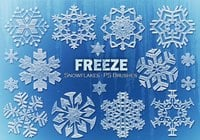 20 Freeze Snowflakes PS Brushes abr. Vol.11
