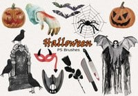 20 Halloween PS Brushes abr. Vol.13