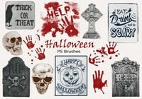 20 Halloween PS Brushes abr. Vol.15