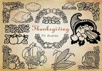 20 Thanksgiving PS Brushes abr. Vol.9