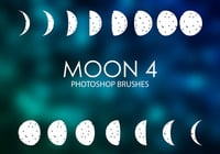 Gratuit Moon Photoshop Brushes 4
