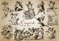 20 Engraved Cupid PS Brushes abr. Vol.7