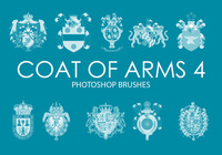 Armoiries gratuites Photoshop Brushes 4