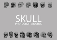 Free Skull Photoshop Brushes 1