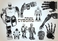 20 Cyborg PS Brushes abr.vol.3