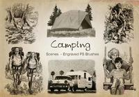 20 Escenas de acampada PS Brushes abr. Vol.8