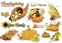 20 Thanksgiving PS Brushes abr. vol.8