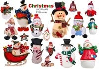 20 Noël Snowman PS Brosses abr. Vol.14