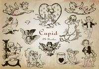 20 Engraved Cupid PS Brushes abr. Vol.9