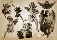 20 Engraved Cupid PS Brushes abr. Vol.10