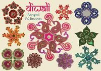 20 Diwali Rangoli PS-borstels abr. vol.9