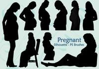 20 Pregnant Silhouette PS Brushes abr.Vol.4