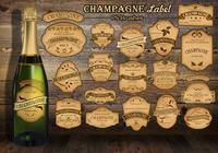 20 Champagne Vintage Label PS Brushes abr.vol.8
