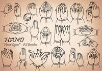 20 Hand Signal PS Brushes abr.Vol.14