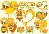 20 Honey Heart PS Brushes abr. Vol.14