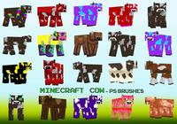 20 Minecraft Cow PS Brushes abr. Vol.20