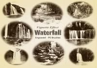 20 Waterfall Gravure PS Brushes abr. Vol.8