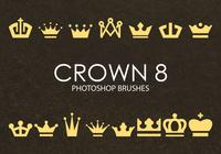 Brochas gratuitas de Photoshop Crown 8