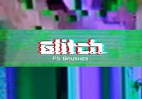 20 glitch texture ps brushes.abr vol.1