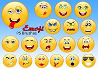 20 Emoji PS Brushes abr.Vol.1