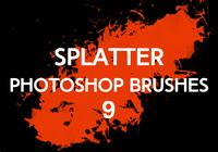 Splatter Photoshop Brushes 9