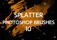 Splatter Photoshop Pinceaux 10