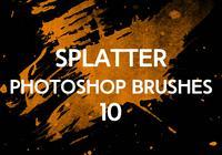 Splatter Photoshop Pinceaux 10