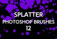 Splatter Photoshop Pinceaux 12