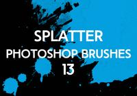 Splatter Photoshop Brushes 13