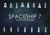 Gratis rymdskepps Photoshop borstar 7