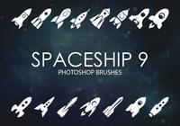 Gratis rymdskepps Photoshop borstar 9