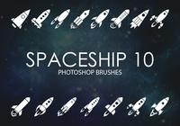 Free Spaceship Photoshop Brushes 10