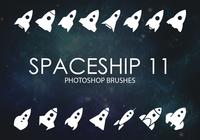 Free Spaceship Photoshop Brushes 11