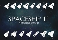 Gratis rymdskepps Photoshop borstar 11