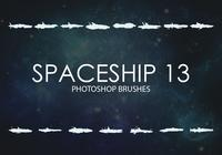 Free Spaceship Photoshop Brushes 13