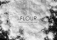 Free Flour Photoshop Brushes