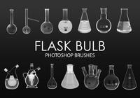 Free Flask Bulb Photoshop Brushes