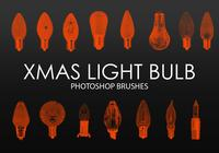 Free Xmas Light Bulb Photoshop Brushes