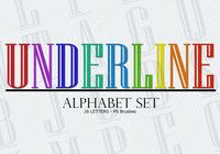 26 Underline Letters PS Brushes abr vol.1