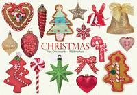 20 Christmas Tree Ornaments PS Brushes abr. Vol.16
