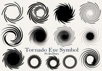 20 Tornado Symbol PS Brushes abr. Vol.2