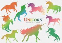 20 Unicorn Silhouette PS Brushes abr. Vol.4