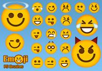 20 Emoji Face PS Brushes abr.Vol.3