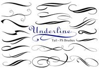 20 Underline Tail PS Brushes abr vol.3
