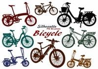 20 Bicycle Silhouette PS Brushes abr.Vol.7