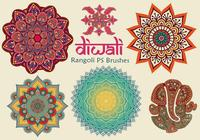 20 Diwali Rangoli PS-borstels abr. vol.11